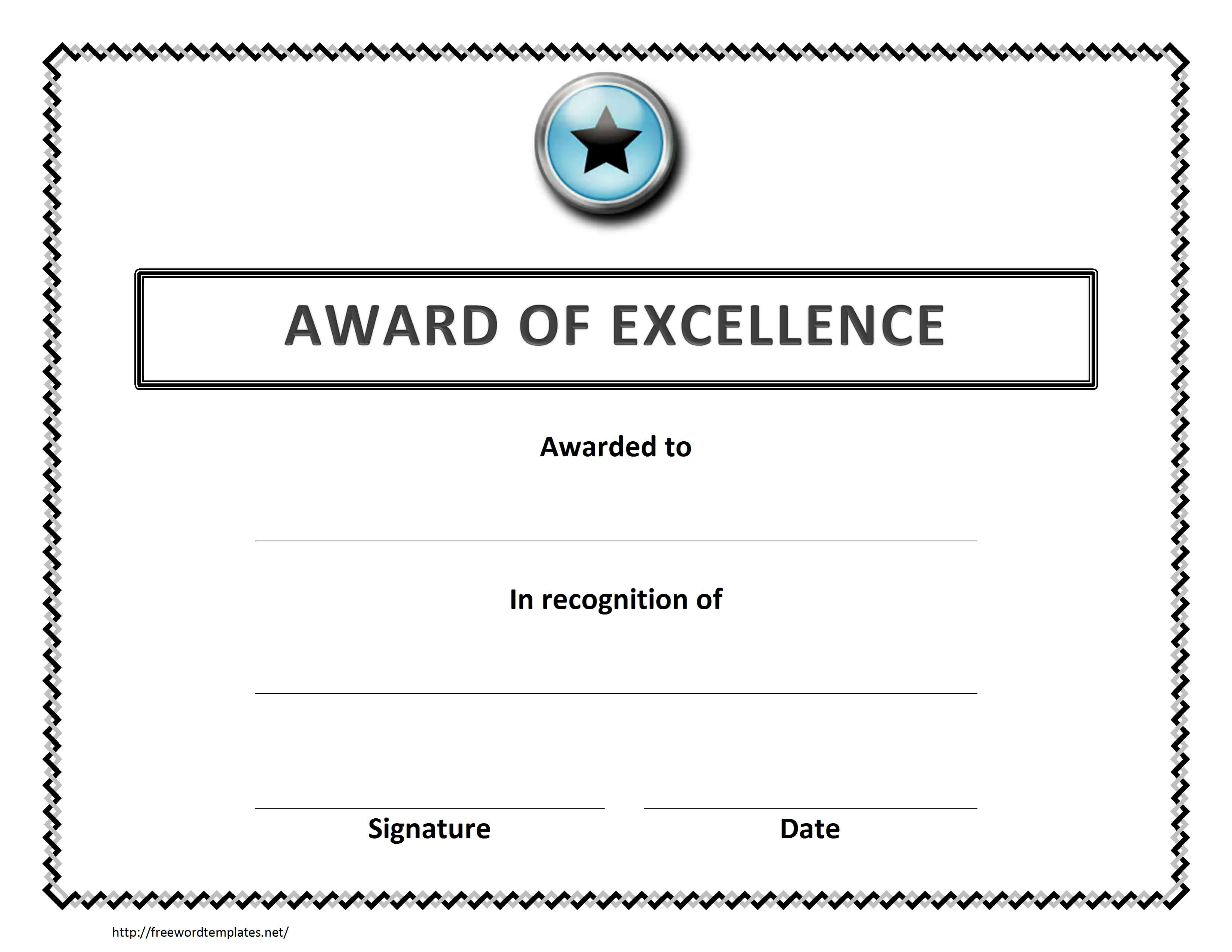 012 Microsoft Word Certificate Template Ideas Free Awesome within Award Certificate Templates Word 2007
