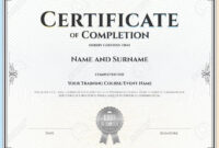 012 Template Ideas Certification Of Completion Certificate inside Construction Certificate Of Completion Template