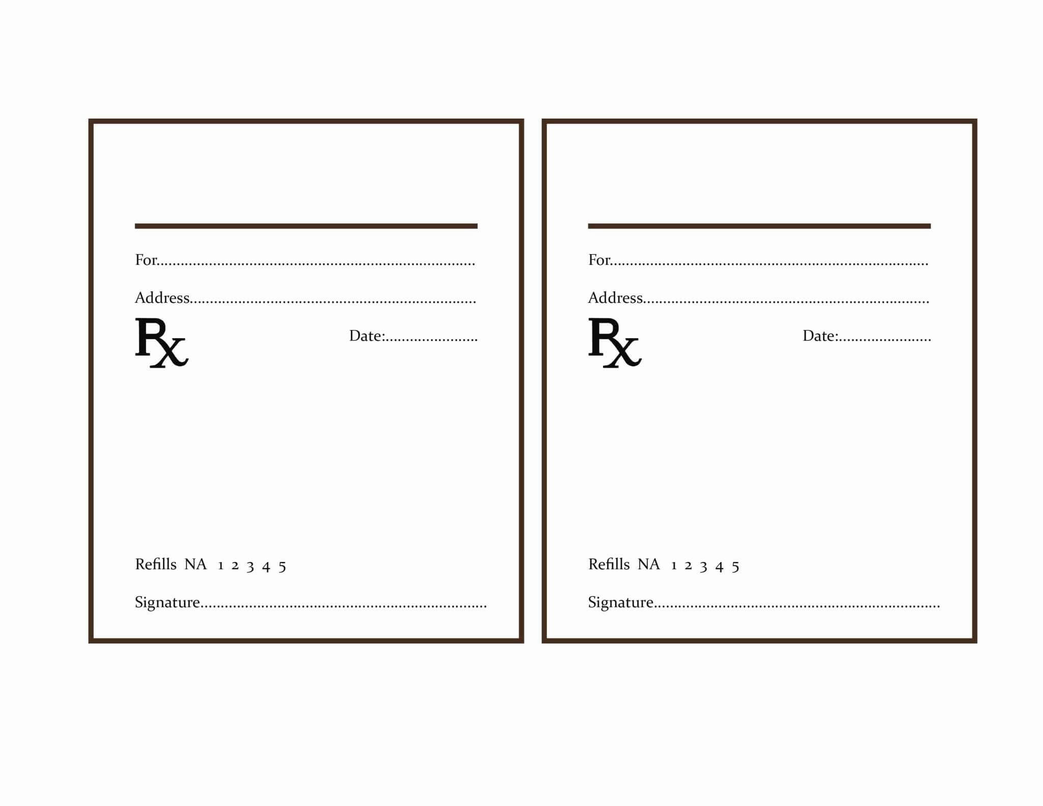 013 Fake Prescription Label Template Modern Design With with Blank Prescription Pad Template