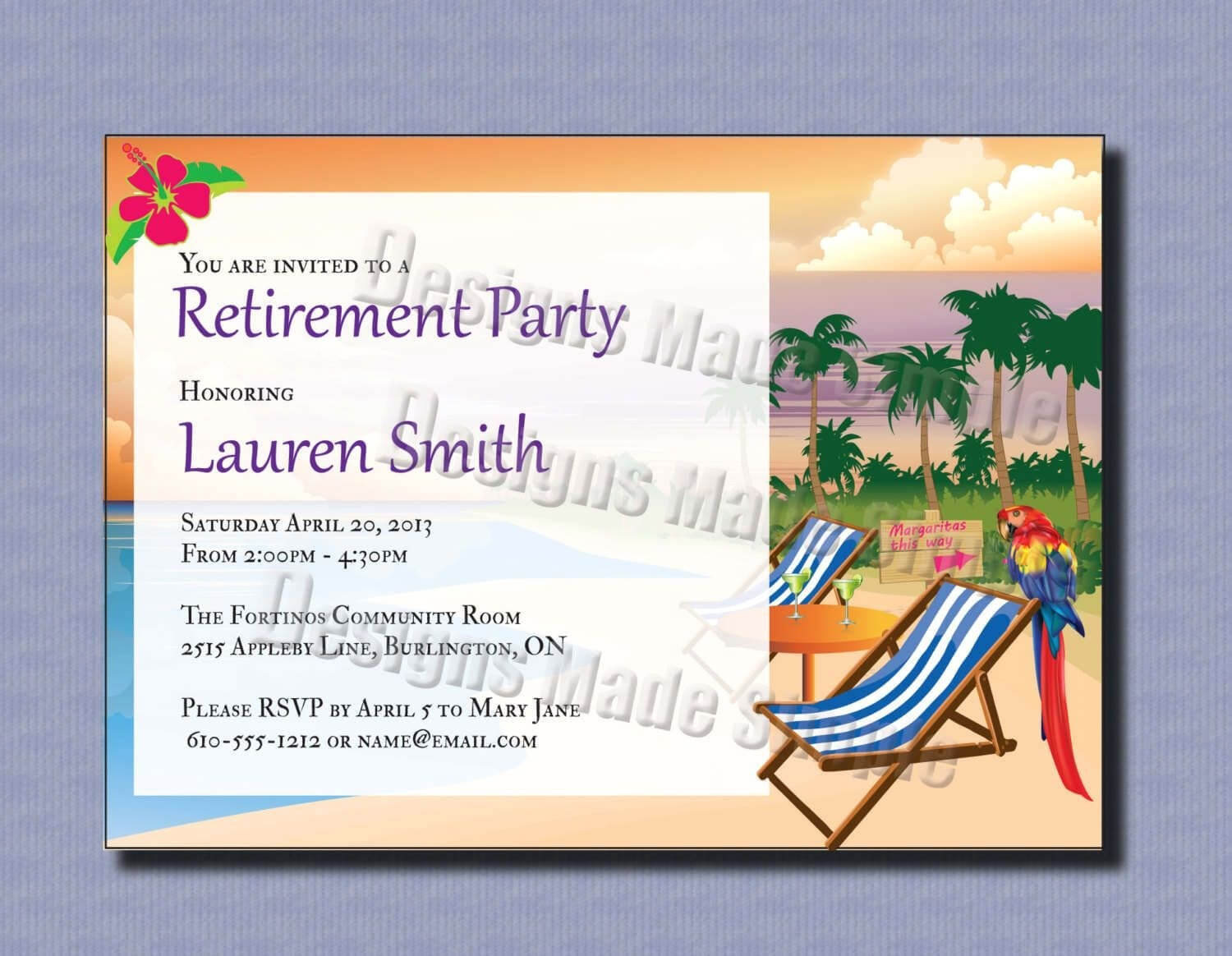 013 Retirement Party Invitation Template Download within Retirement Card Template