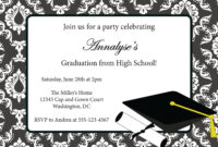 013 Template Ideas College Graduation Party Invitations for Graduation Party Invitation Templates Free Word