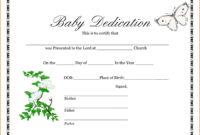 014 Template Ideas Baby Dedication Wonderful Certificate inside Baby Dedication Certificate Template