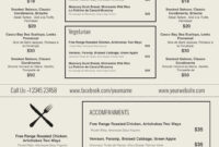 015 Menu Templates Free Download Word Friench Food Template within Free Cafe Menu Templates For Word
