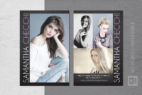 015 Model Comp Card Template Ideas Outstanding Free for Comp Card Template Psd