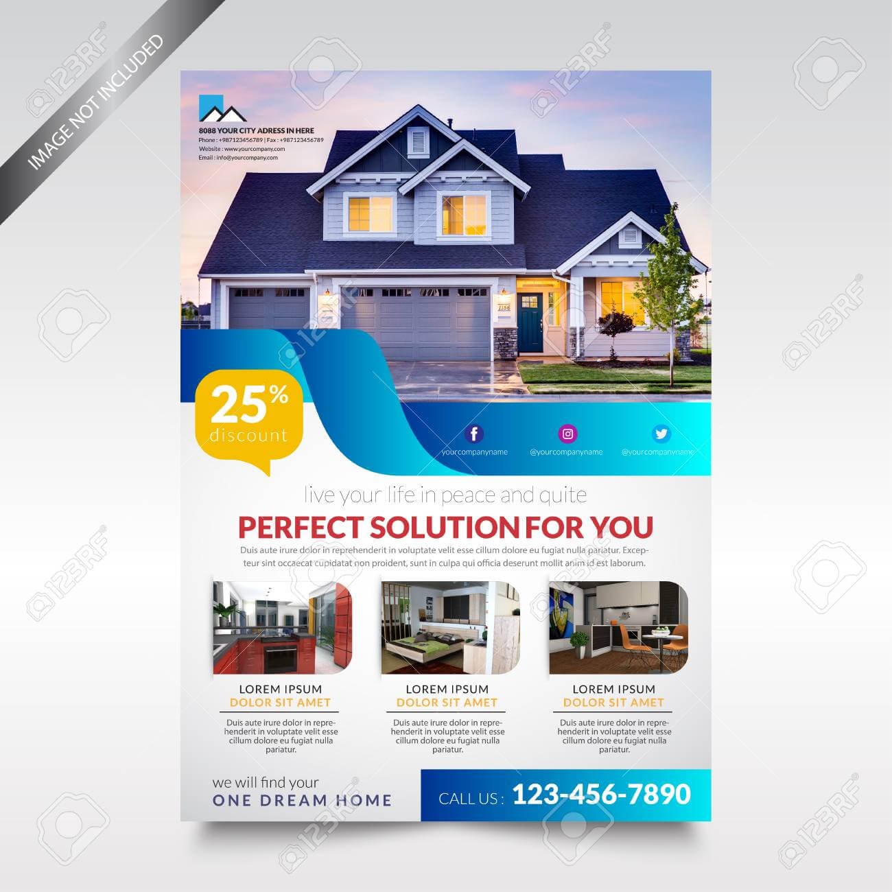 015 Real Estate Flyer Template Brochure Design Ideas inside Real Estate Brochure Templates Psd Free Download