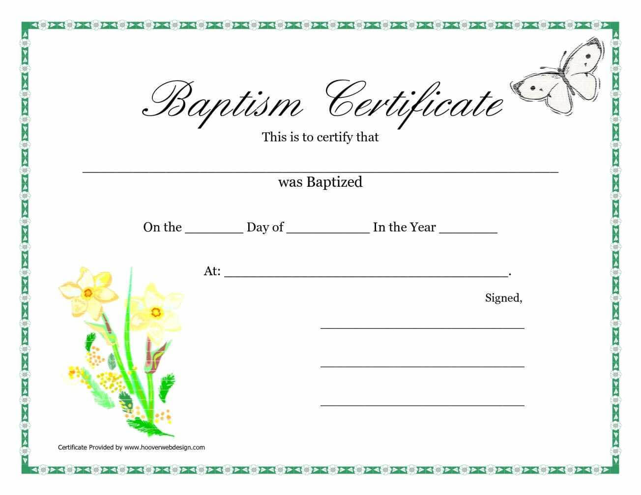 015 Template Ideas Certificate Of Baptism Unique Word pertaining to Christian Baptism Certificate Template