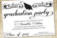 015 Template Ideas College Graduation Invitation Templates with Free Graduation Invitation Templates For Word