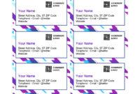 015 Template Ideas Microsoft Business Card Templates Free in Business Card Template For Word 2007