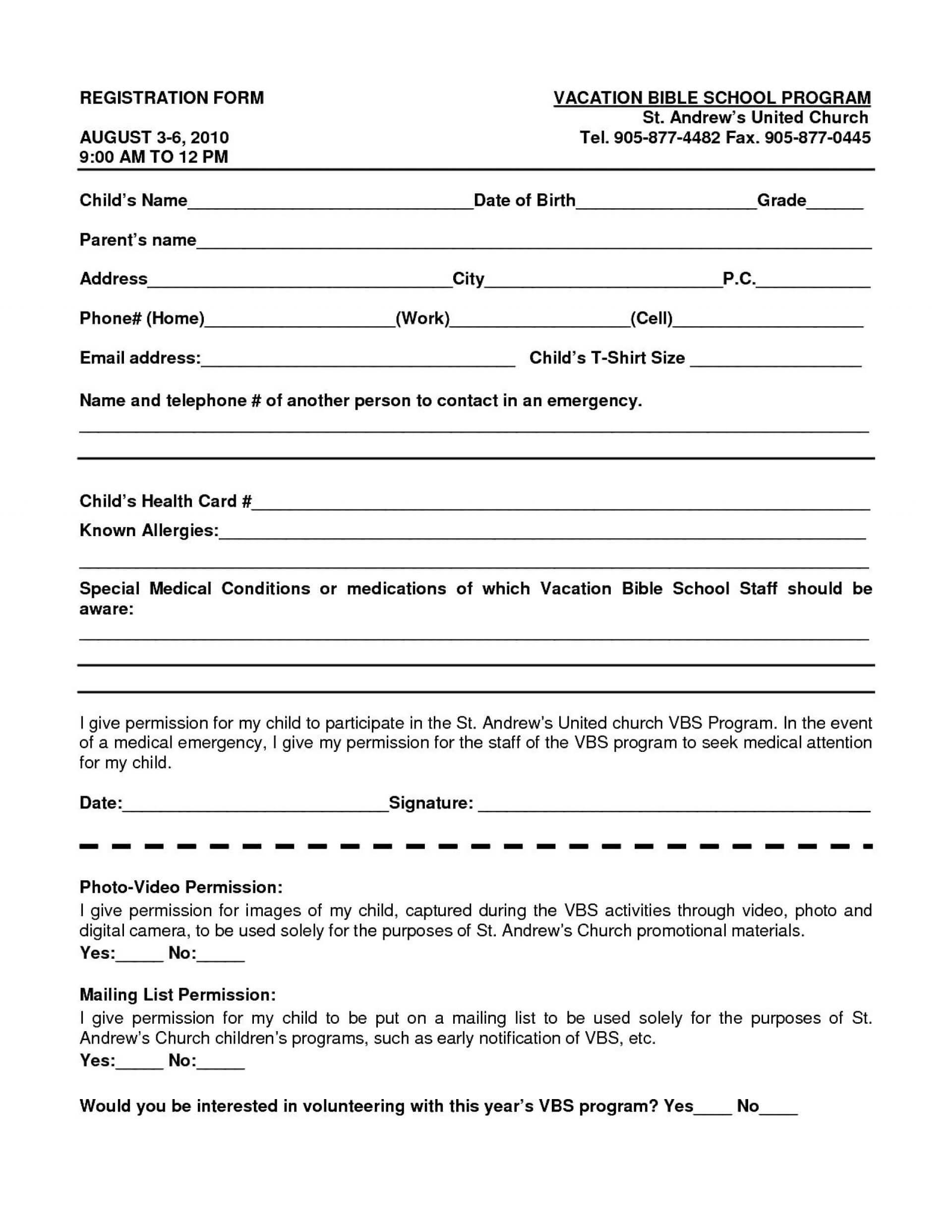 016 School Registration Form Template Word Ideas Free In Within School Registration Form Template Word