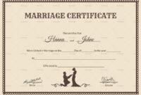 017 Template Ideas Marriage Certificate Beautiful Of Free with Blank Marriage Certificate Template