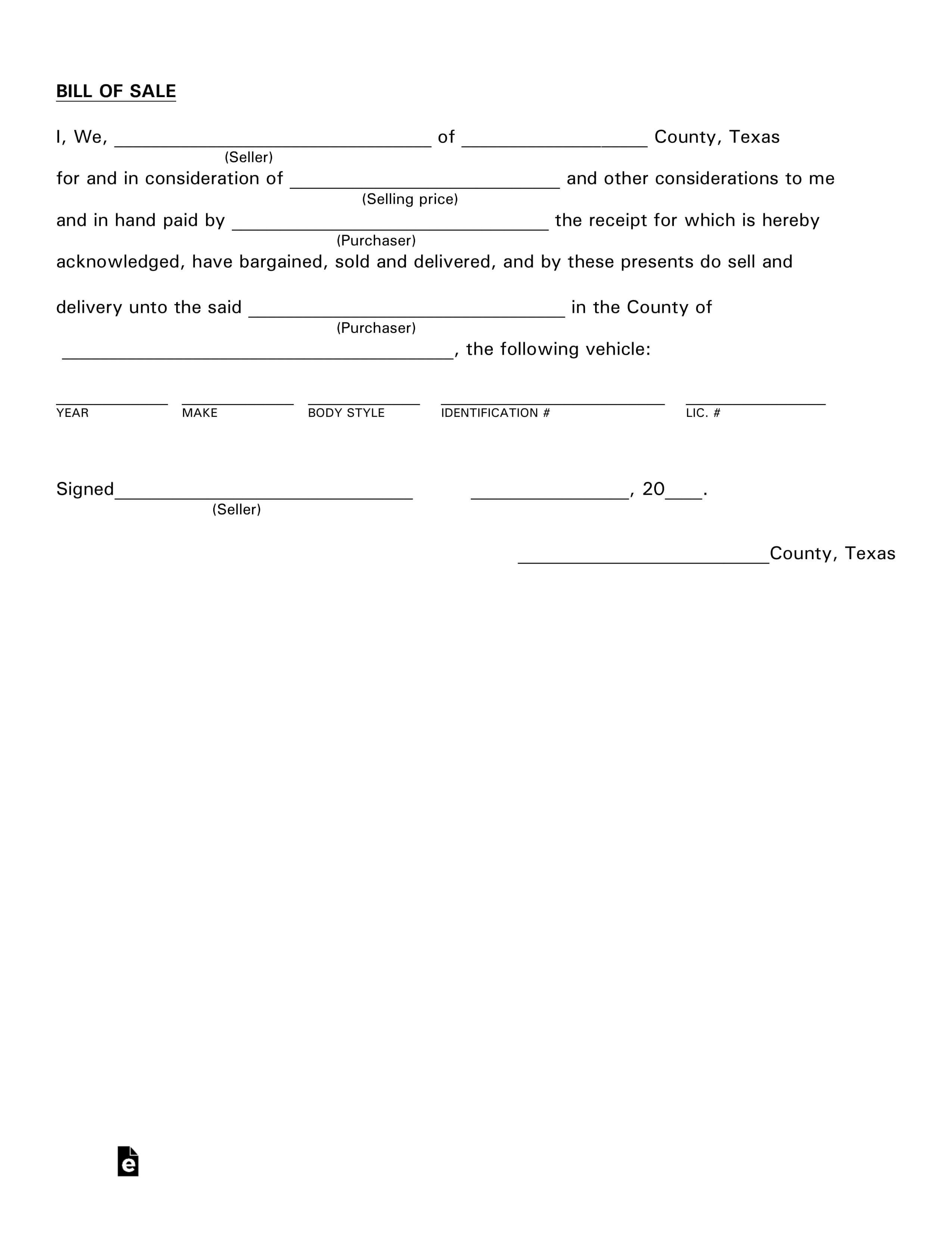 017 Template Ideas Texas Vehicle Bill Of Sale Dreaded for Vehicle Bill Of Sale Template Word