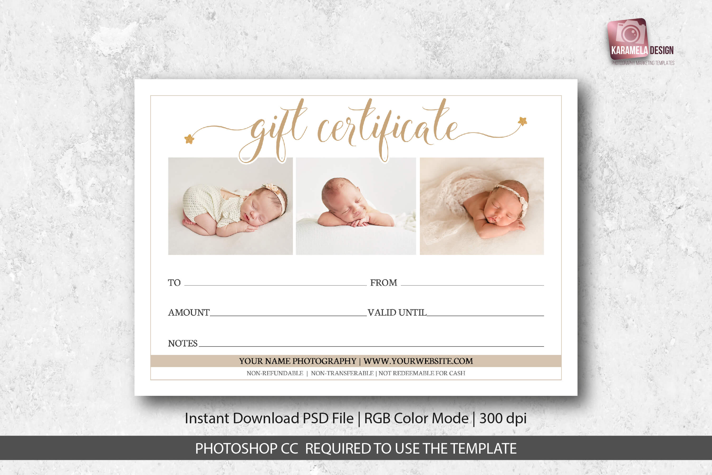 018 Photographer Gift Certificate Template with regard to Free Photography Gift Certificate Template