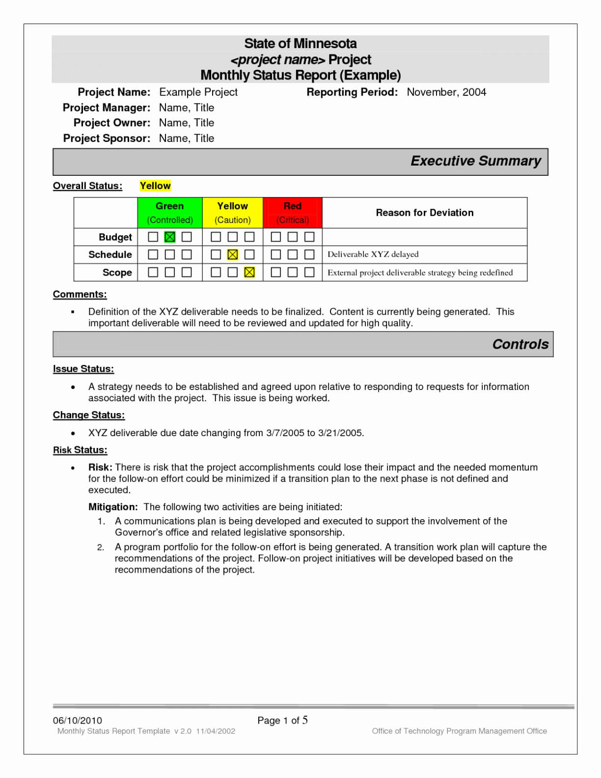 018 Project Status Report Template Excel Software Testing Regarding Project Status Report Template Word 2010