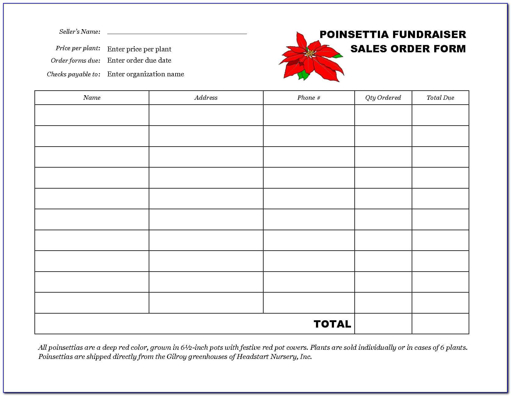 018 Template Ideas Fundraiser Order Form Free Sensational inside Blank Sponsor Form Template Free