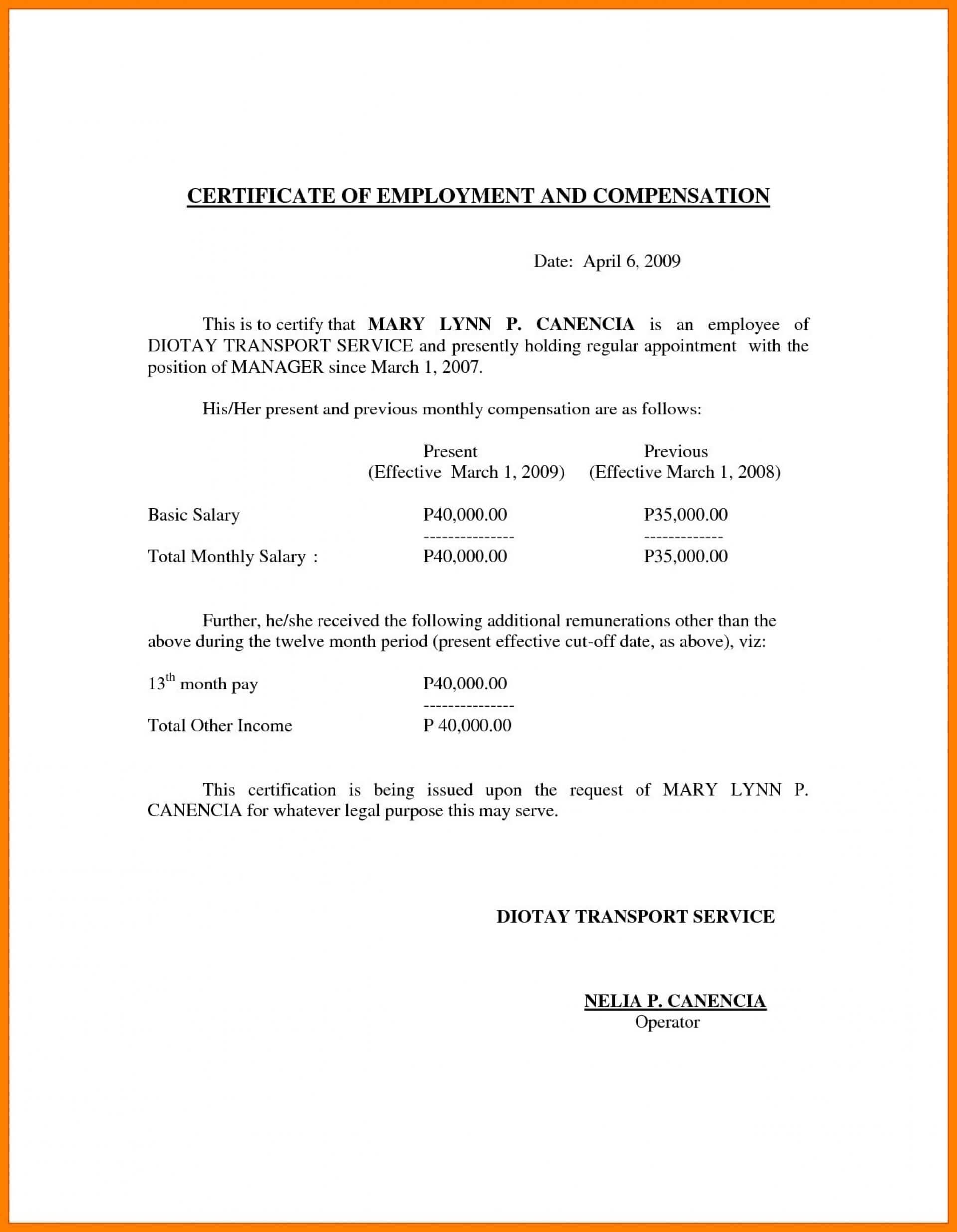 019 Certificate Of Service Template For Years Award Intended For Certificate Of Service Template Free