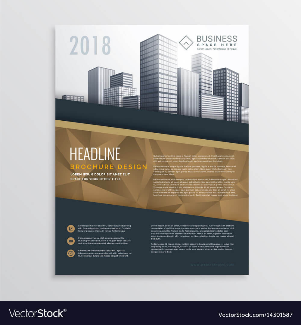 019 Real Estate Brochure Flyer Template Design With Vector intended for Real Estate Brochure Templates Psd Free Download