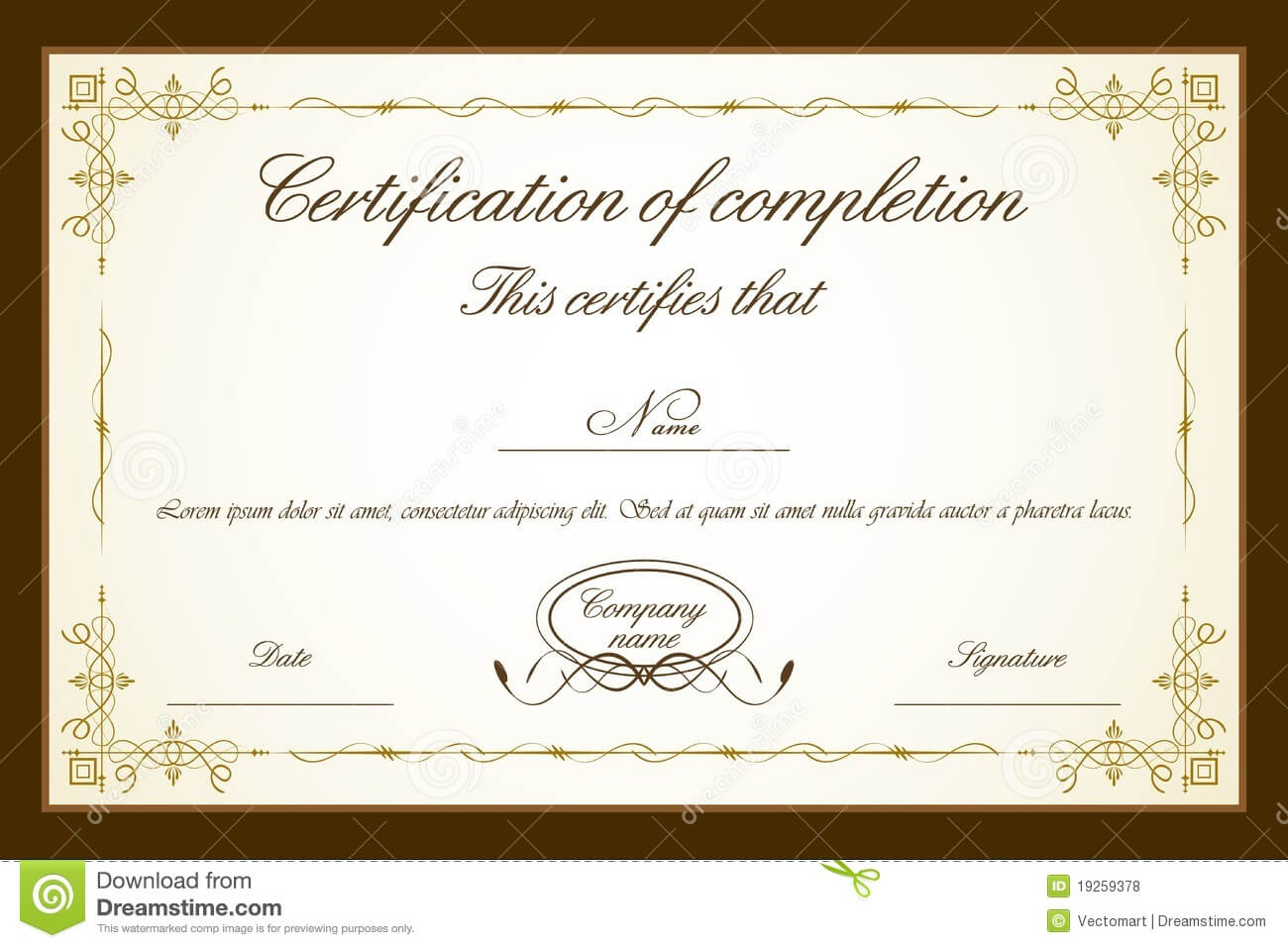 020 Certificate Template Free Blank Templates Wonderful regarding Free Completion Certificate Templates For Word