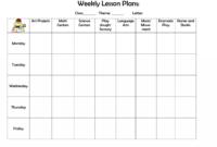 020 Free Weekly Lesson Plan Template Ideas Magnificent regarding Teacher Plan Book Template Word