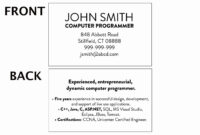 020 Student Business Card Template College Unique Cards intended for Student Business Card Template