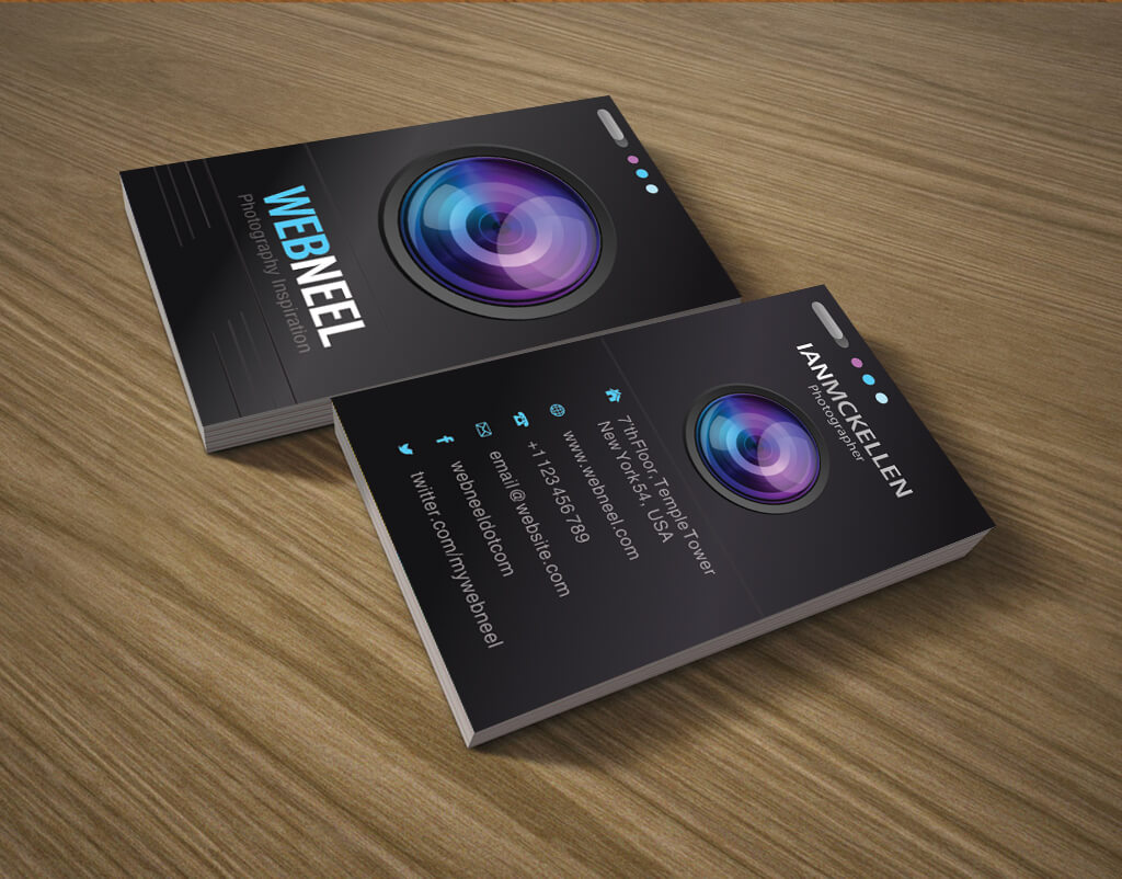 021 Free Photography Business Card On Table Template within Photography Business Card Templates Free Download