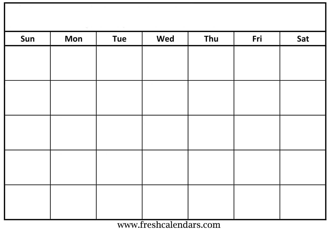 021 Template Ideas Blank Calendar Free Printable intended for Blank Calender Template