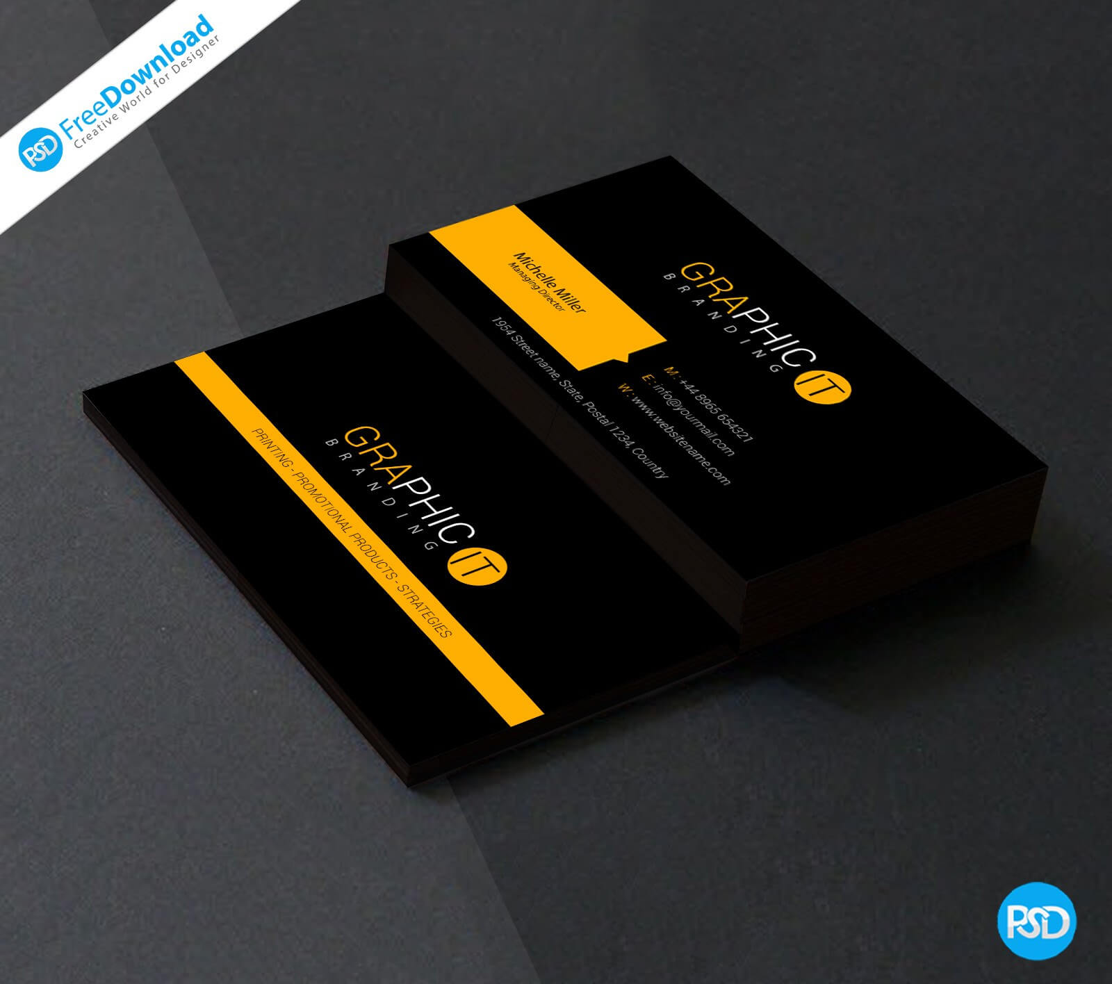 023 Professional Business Card Design Psd Blank Template Pertaining To Visiting Card Template Psd Free Download