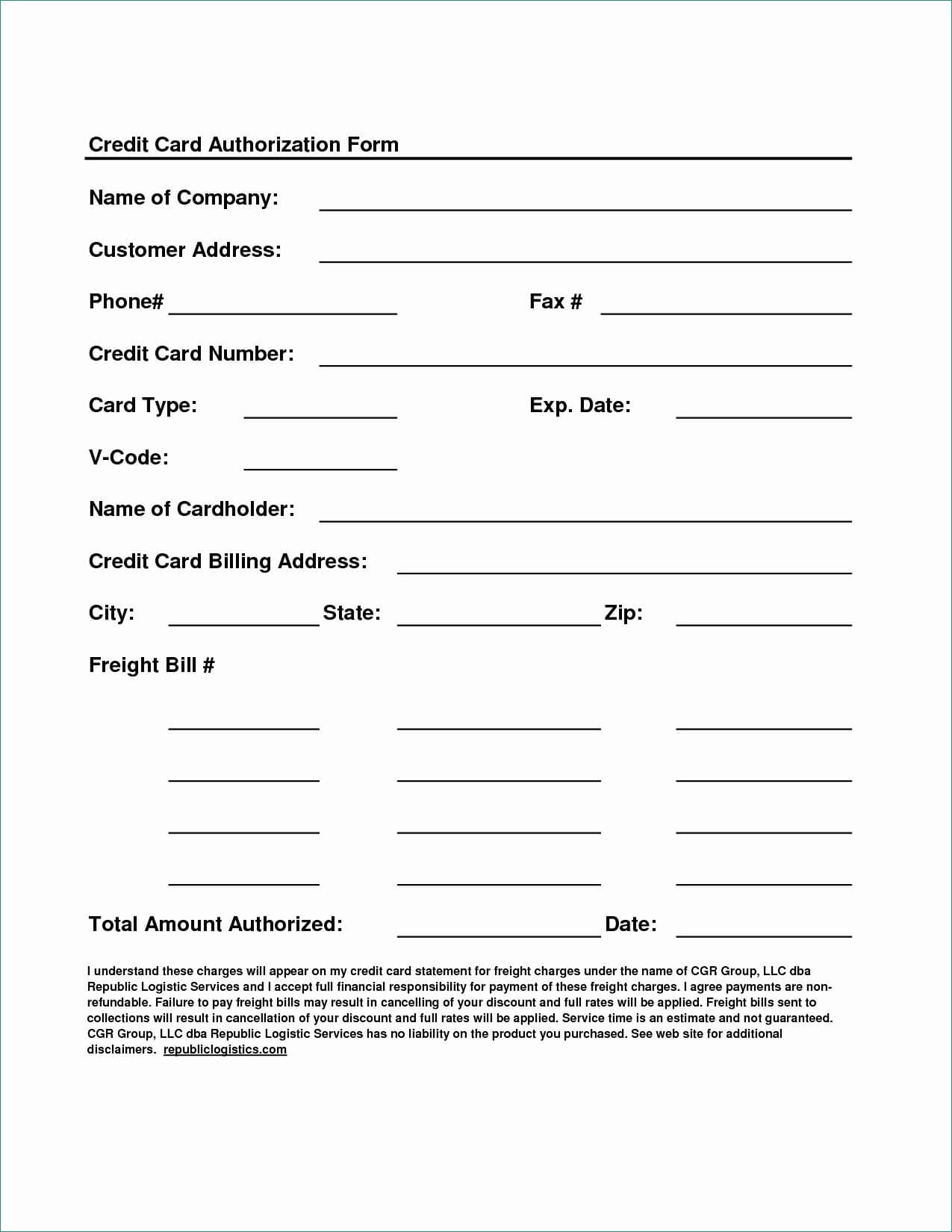 023 Template Ideas Credit Card Form Authorization Pdf Of regarding Credit Card Billing Authorization Form Template