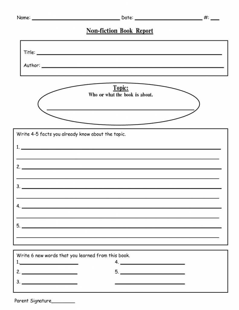 023 Template Ideas Free Printable Book Report Templates Non inside First Grade Book Report Template
