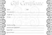 024 Gift Certificate Template Free Certificates Printable throughout Printable Gift Certificates Templates Free