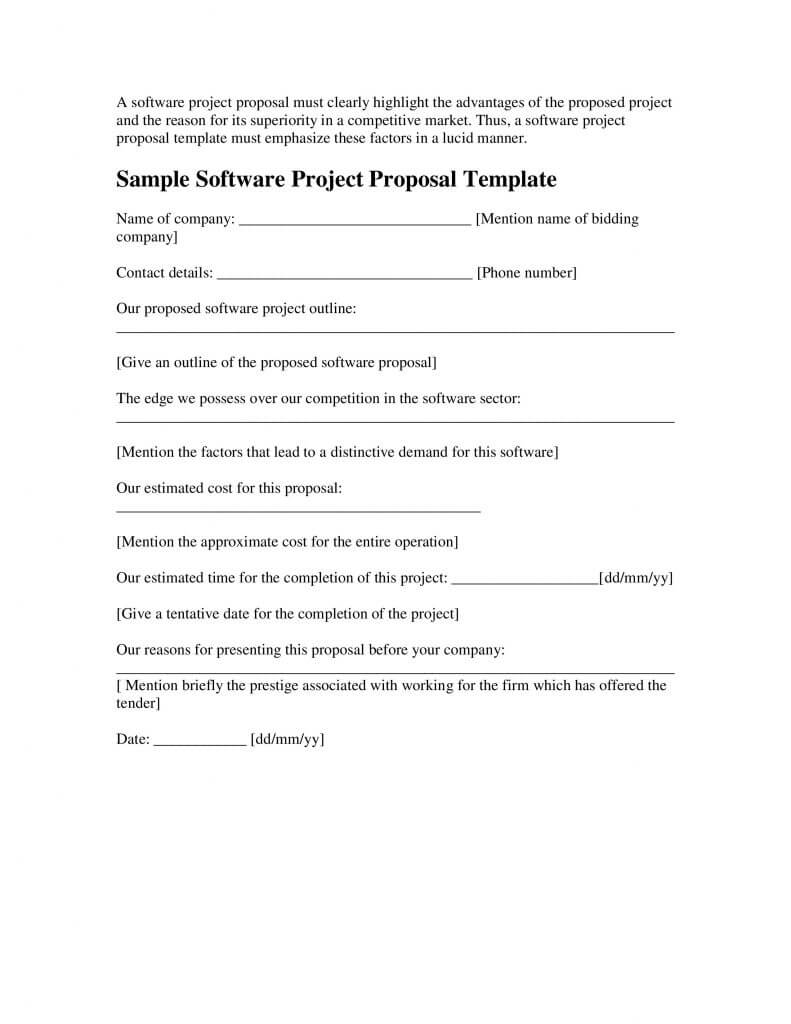 024 Sample Software Project Proposal Template Word Microsoft Within Software Project Proposal Template Word