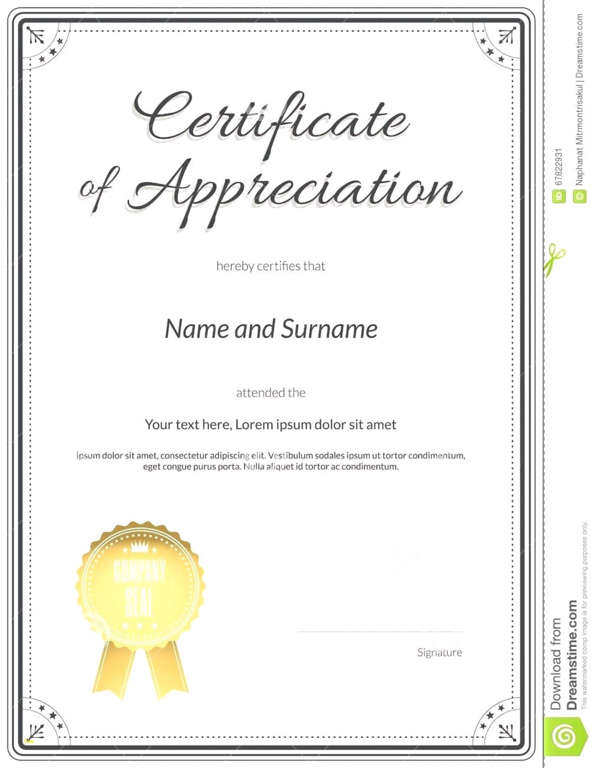 024 Template Ideas Certificateofcompletion Certificate Of Pertaining To Certificate Of Recognition Word Template