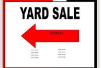 025 Garage Sale Flyer Template Free Impressive Ideas for Garage Sale Flyer Template Word