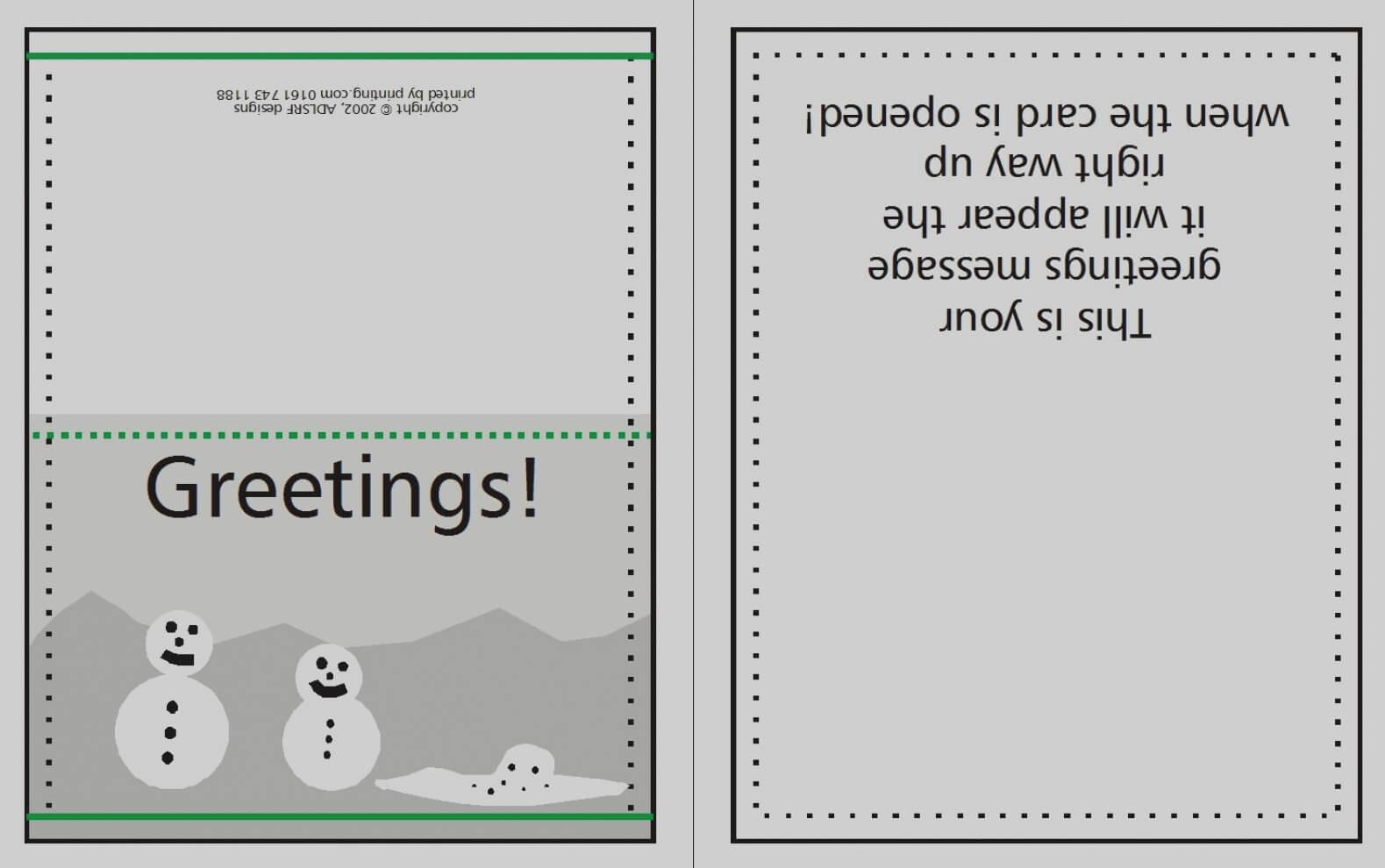 027 Card Template Birthday Invitation Quarter Fold In Ideas Within Quarter Fold Card Template