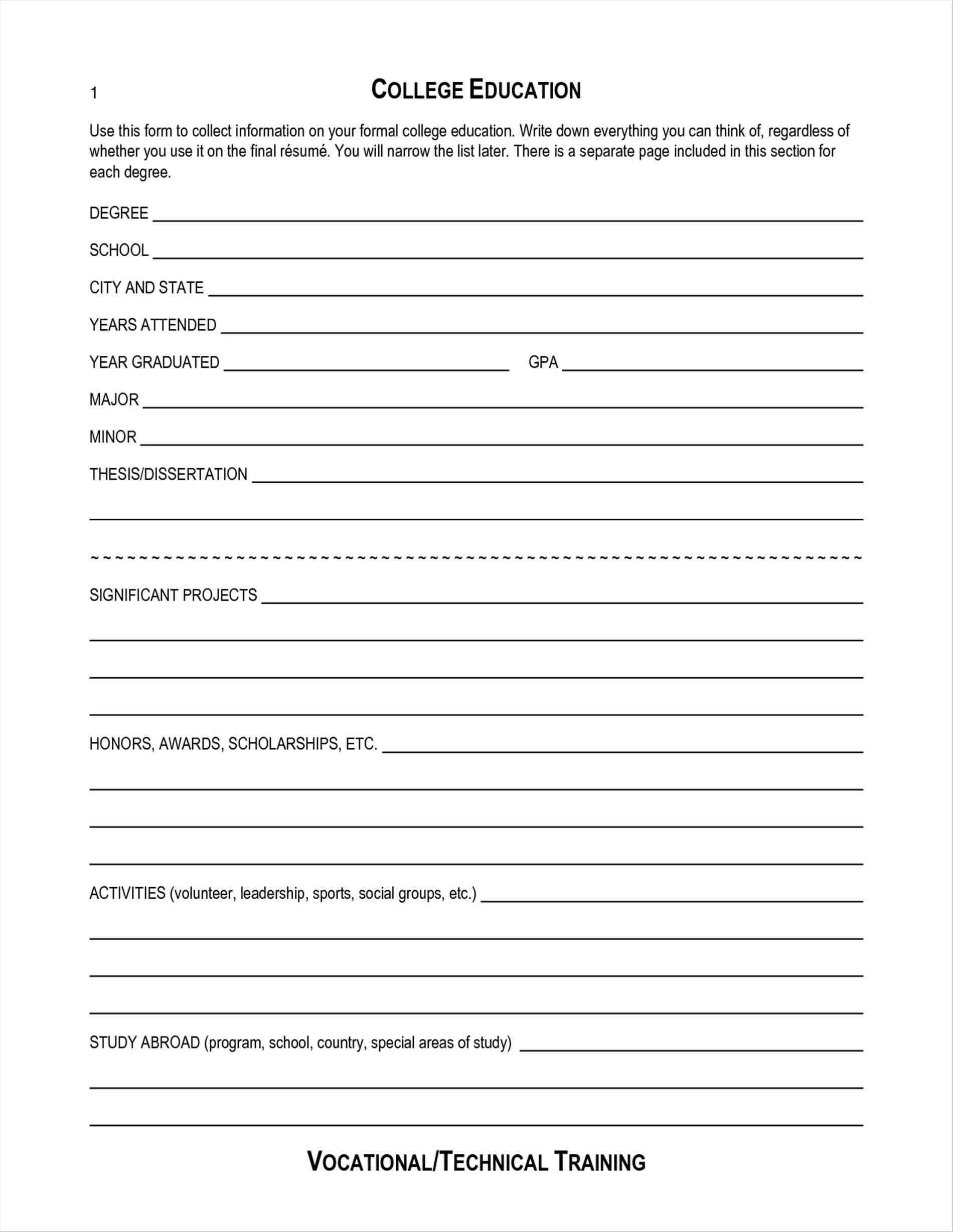 028 Free Blank Resume Templates Template Ideas Printable Pdf throughout Blank Resume Templates For Microsoft Word