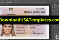 029 Id Card Template Photoshop Uk Psd Stirring Ideas in Florida Id Card Template