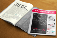 030 4K Magazine Free Magazines Cover Templates Template Within Blank Magazine Template Psd
