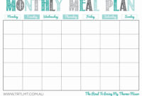 030 Monthly Meal Planner Template Free Menu Awesome Ideas inside Meal Plan Template Word