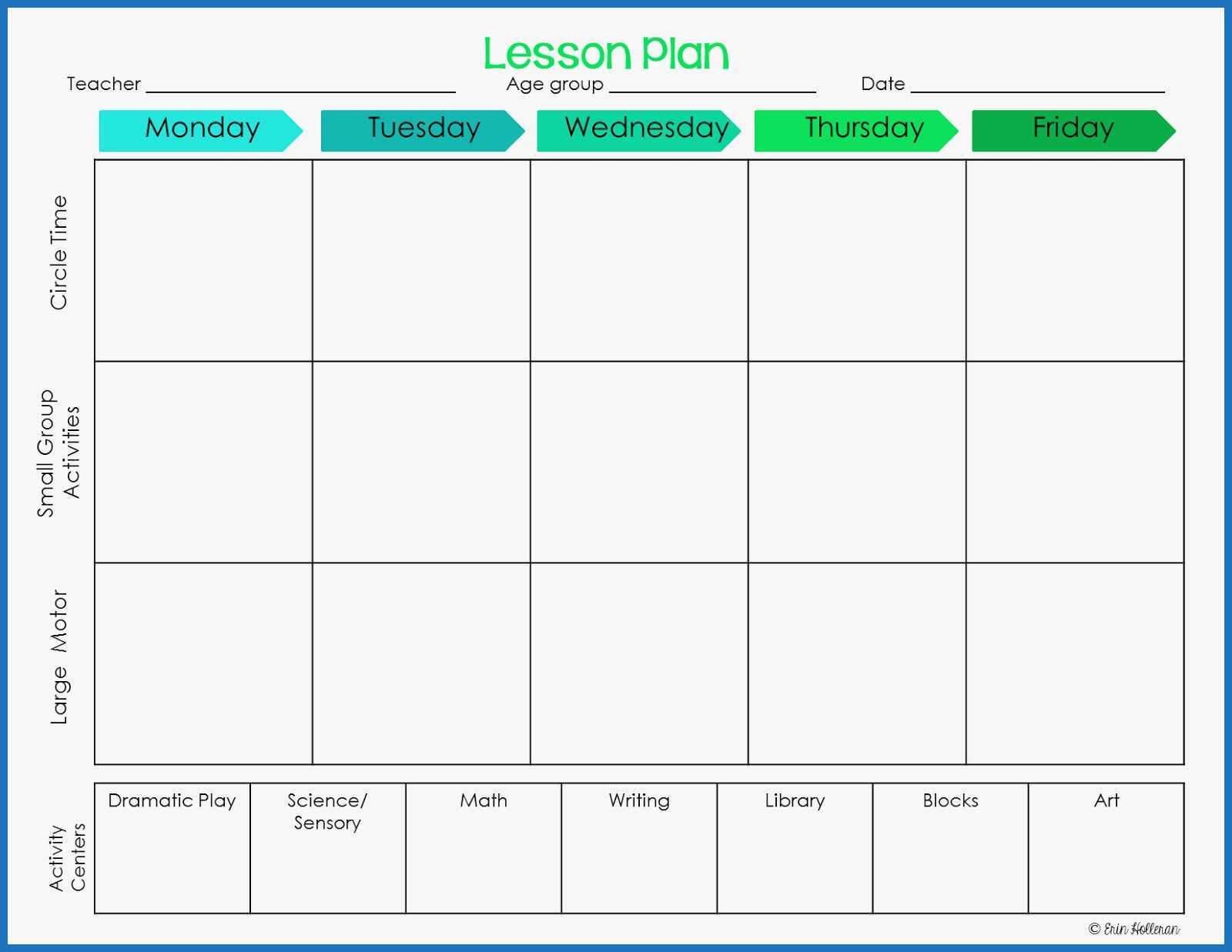031 Preschool Lesson Plan Template Cute Ponderings Make Your for Blank Preschool Lesson Plan Template