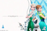 032 Frozen Birthday Invites Template Excellent Ideas Party inside Frozen Birthday Card Template
