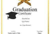 032 Template Ideas Graduation Certificate Free Birthday within Graduation Gift Certificate Template Free