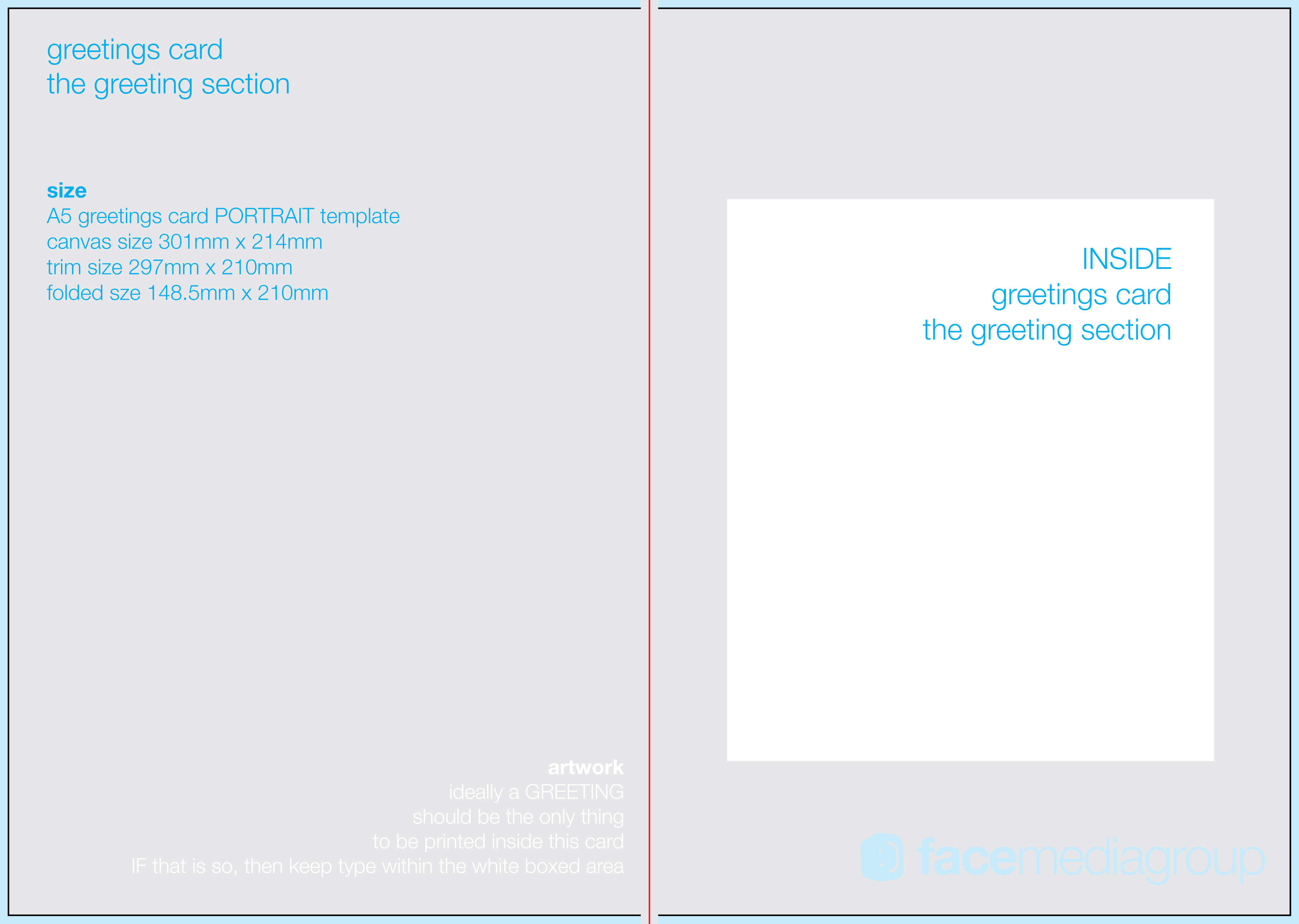 033 A5Card In Photoshop Greeting Card Template Psd Intended For Birthday Card Template Indesign