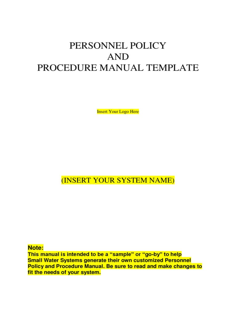 033 Personal Policy And Procedure Manual Template Ideas throughout Procedure Manual Template Word Free