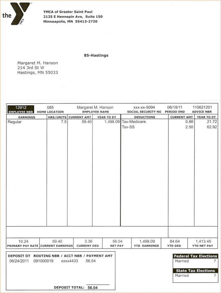 034 Template Ideas Free Paycheck Stub Pay Canada Formidable Throughout Free Pay Stub Template Word