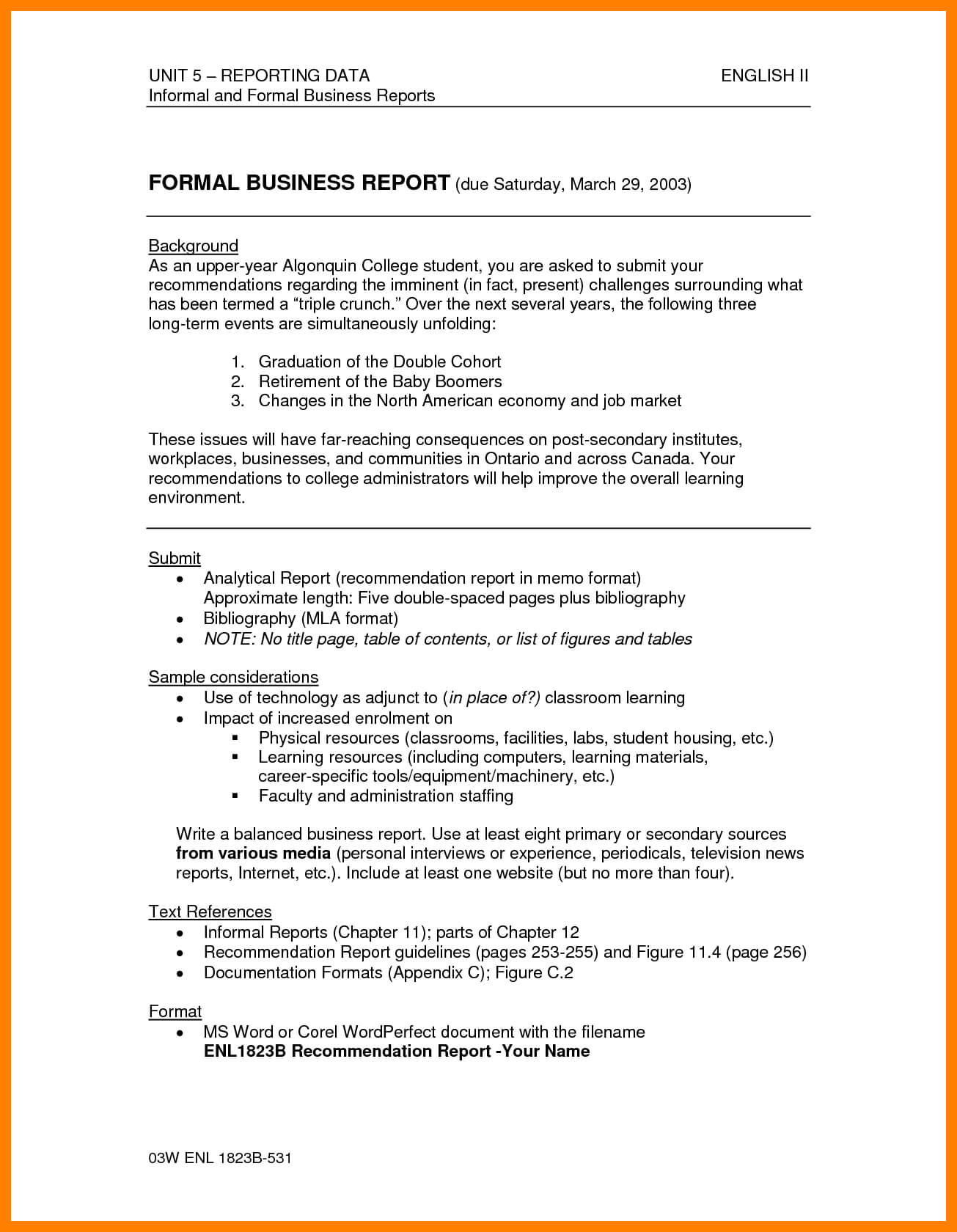 035 Report How To Write Formal Business Template Ample Pdf inside Analytical Report Template