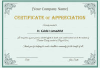 038 Certificates Of Appreciation Templates Template Awesome regarding Best Employee Award Certificate Templates