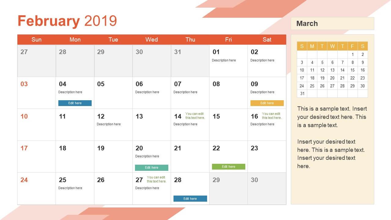 042 Template Ideas Calendar Powerpoint 16X9 Marvelous 12 throughout Microsoft Powerpoint Calendar Template