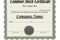 042 Template Ideas Stock Certificate Free Blank Wonderful with Best Teacher Certificate Templates Free