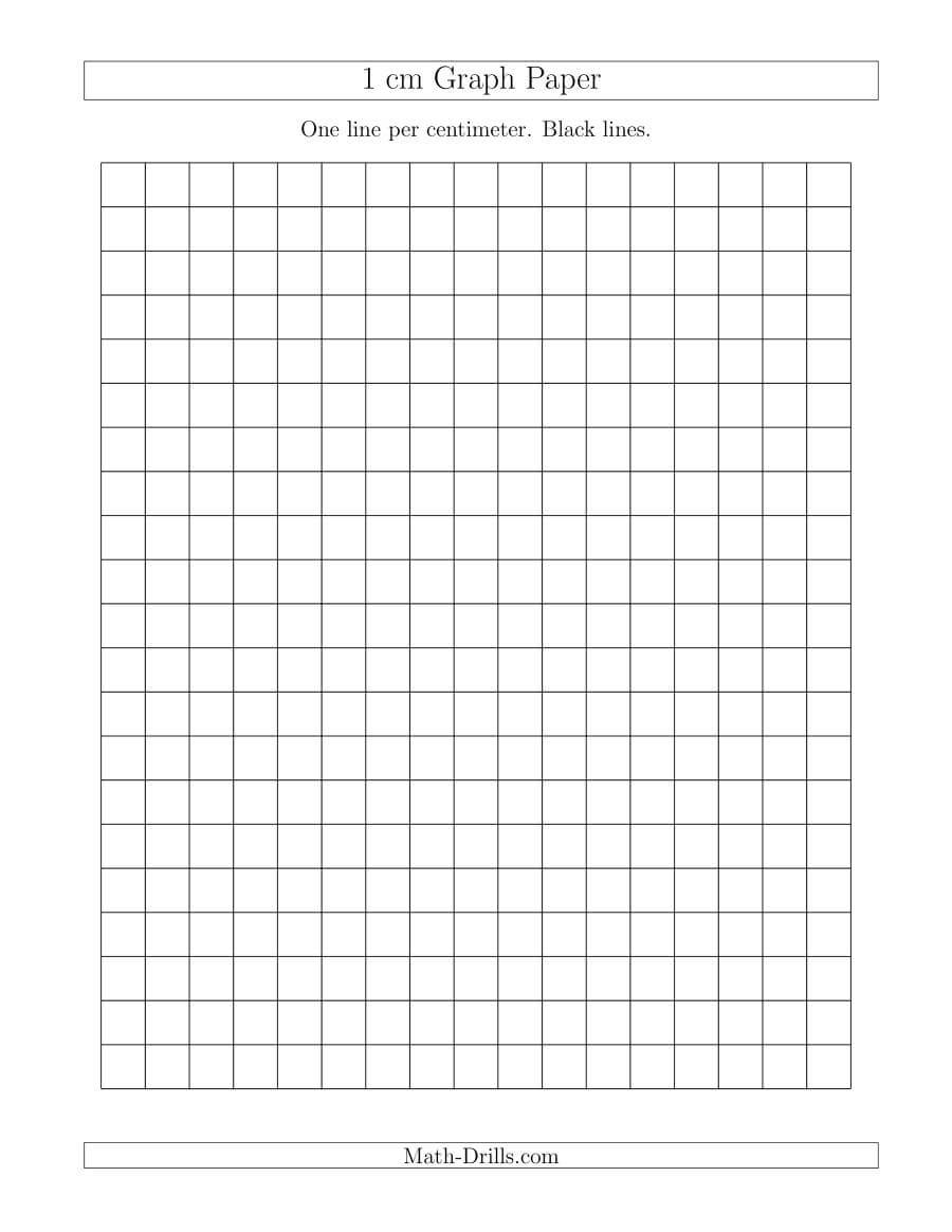 1 Cm Graph Paper With Black Lines (A) in 1 Cm Graph Paper Template Word