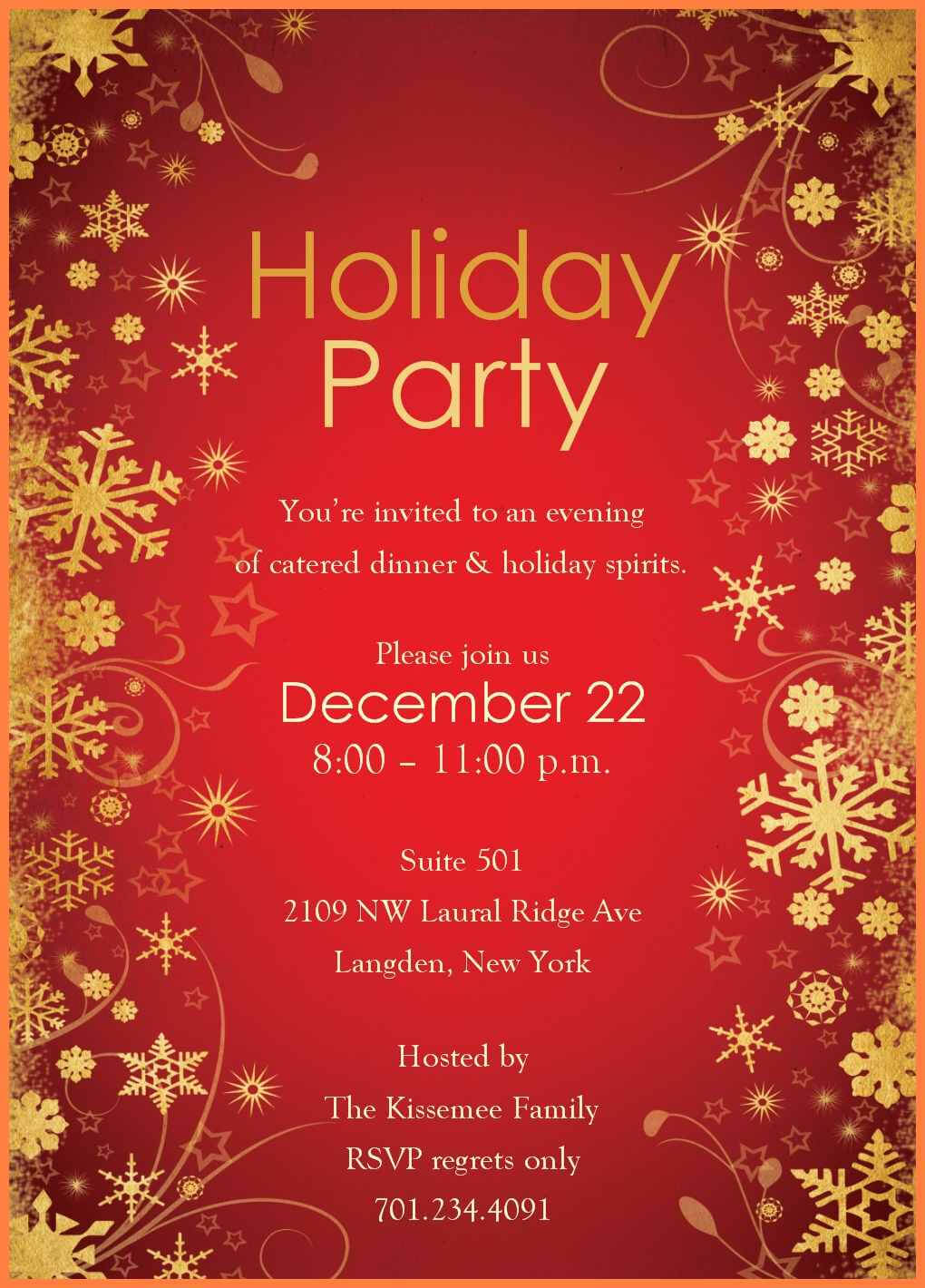 10+ Free Party Templates For Word | Andrew Gunsberg pertaining to Free Dinner Invitation Templates For Word