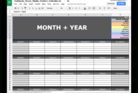 10 Ready-To-Go Marketing Spreadsheets To Boost Your pertaining to Monthly Productivity Report Template